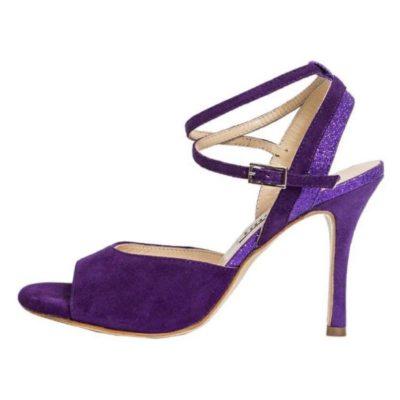 Nina Deep Purple Suede and Glitter