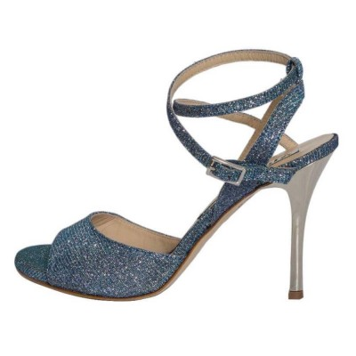 Maia Double Strap Sky Blue Lurex