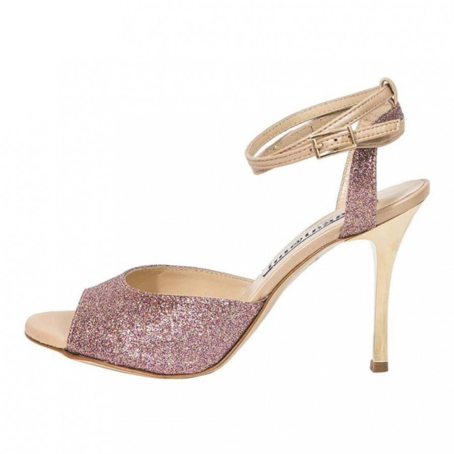 Iris Double Strap Pink  Party Glitter
