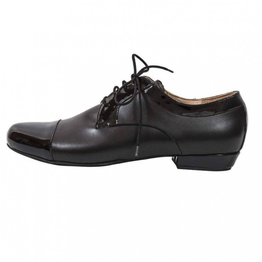 Arrabal Black Calf and Patent Leather
