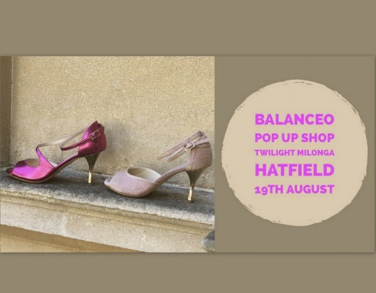 Balanceo at Twilight Milonga. Sunday 19th August, Hatfield