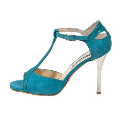 Zoe Tropical Turquoise and Glitter combination