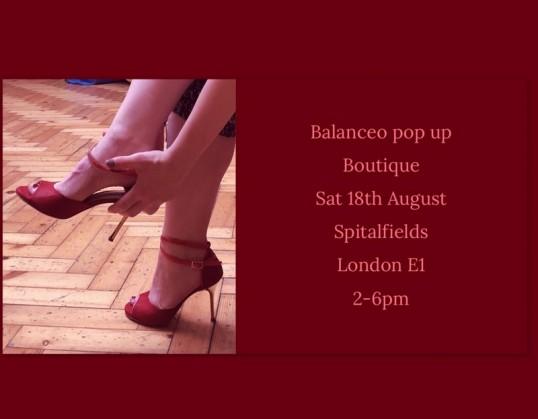 Balanceo Pop Up Boutique, Saturday 18th August Spitalfields, London E1
