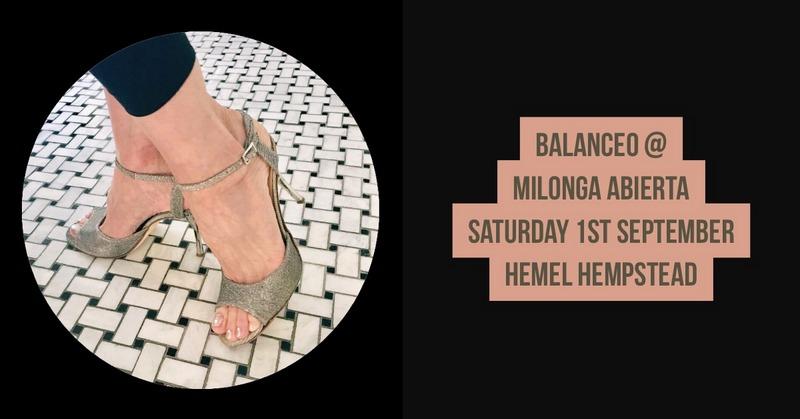 Balanceo Pop up Shop @ Milonga Abierta, Hemel Hempstead, 1st September