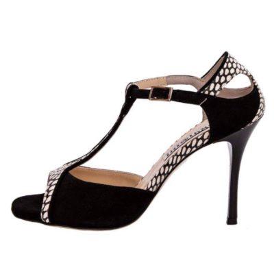 Zoe Glossy Black and Black & White Cobra Combination