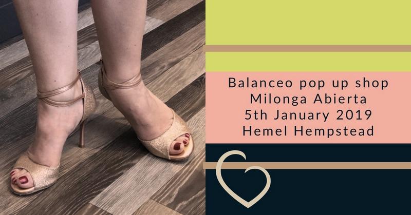 Balanceo pop up Shop @ Milonga Abierta , Hemel Hempstead , 5th Jan
