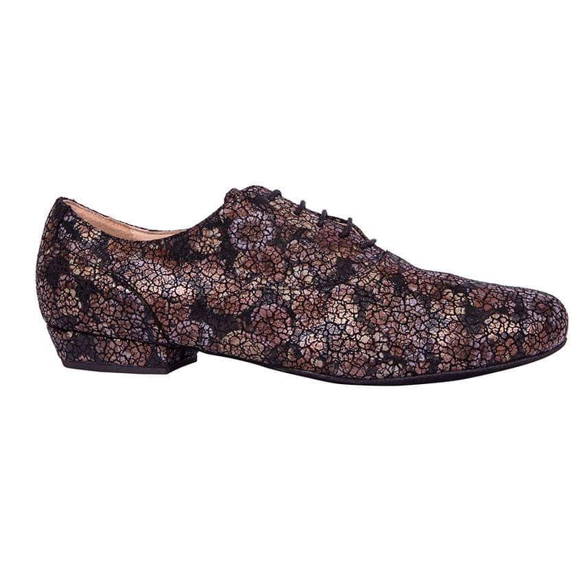 Classico Black Flowers Leather. All heel choices