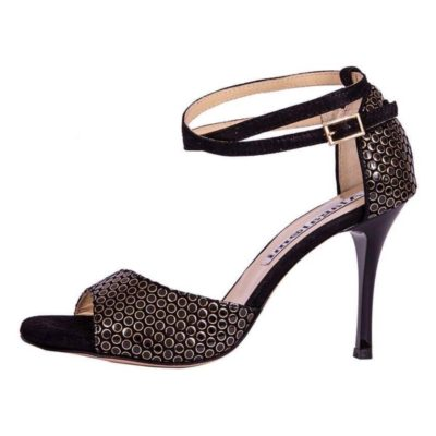 Beso Double Strap Black Ace Leather