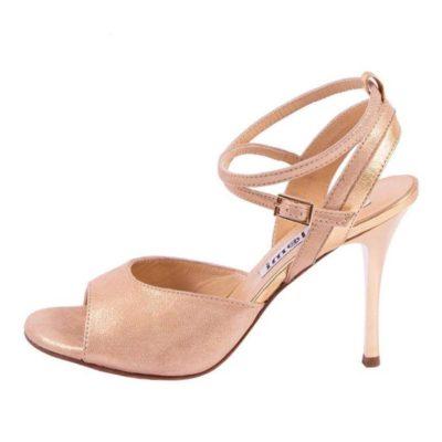 Nina Double Strap Gold Alba Leather