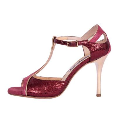 Zoe Bordeaux Bullet and Blush Leather