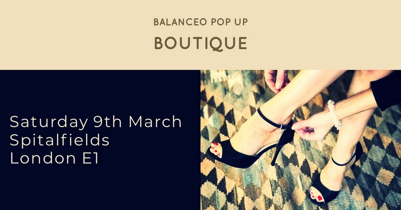 Balanceo Pop Up Boutique @ Spitalfields ,Sat 9th March  2019, London E1, from 1pm -5pm