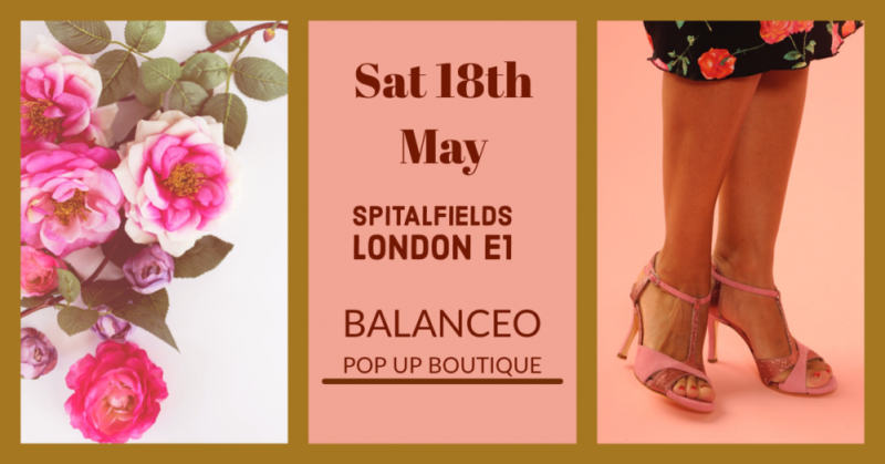 Balanceo Pop Up  Boutique, Sat 18th May, London E1