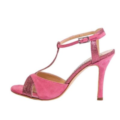 Maleva Camellia Suede and Glitter Combination