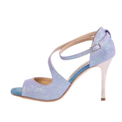 Venus Cornflower Suede and Glitter
