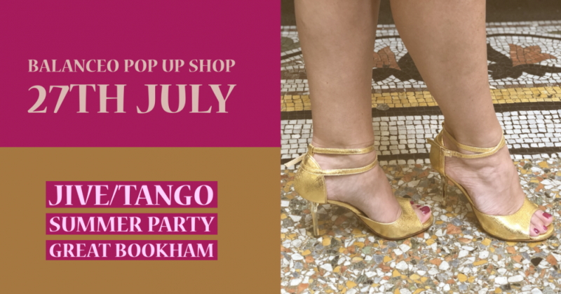 Balanceo pop up shop @ JiveTango Summer Party, Great Bookham, Surrey