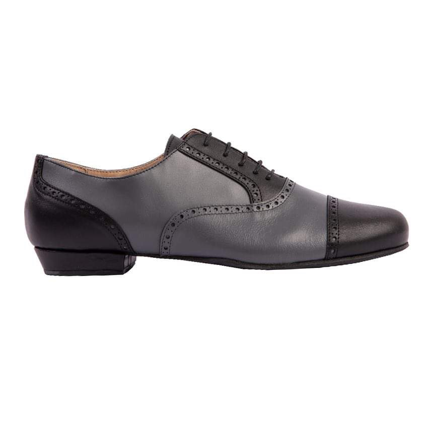 Arrabal Black and Grey Leather