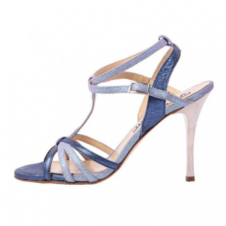 Estrella Double Strap Blue Combinations Leathers