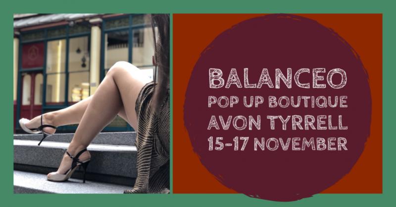 Balanceo Pop Up Boutique @ Avon Tyrrell 15 – 17 November. The New Forest
