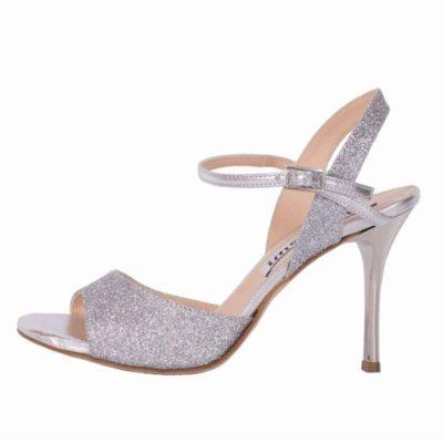 Maia Single Strap Silver Glitter