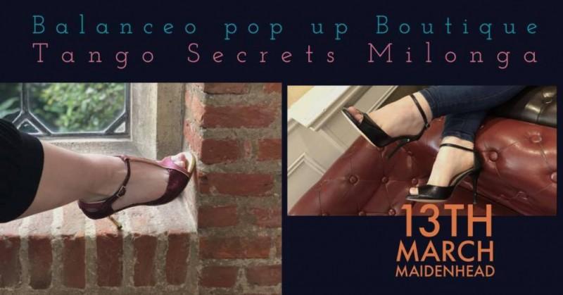 Balanceo pop up boutique @ Tango Secrets Maidenhead 13th March