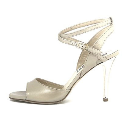 Maia Double Strap Osterica Beige Leather