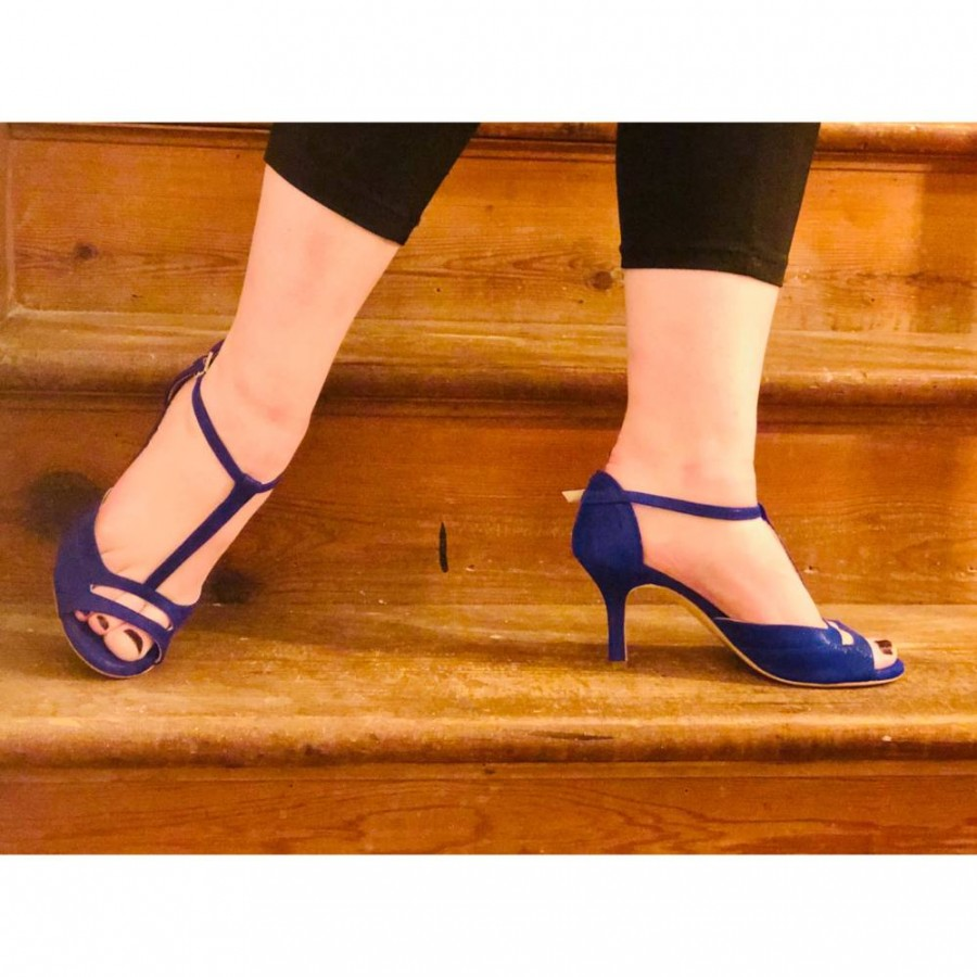 Marlene Persian Blue Glossy Leather