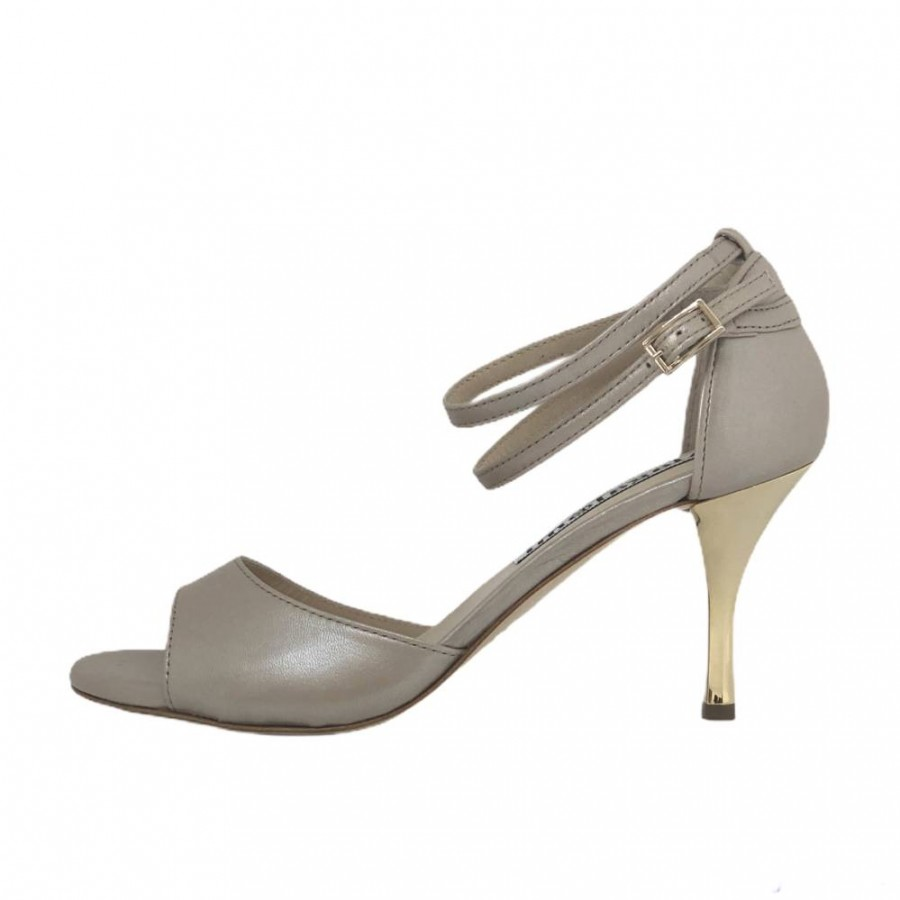 Beso Double Strap Osterica Beige