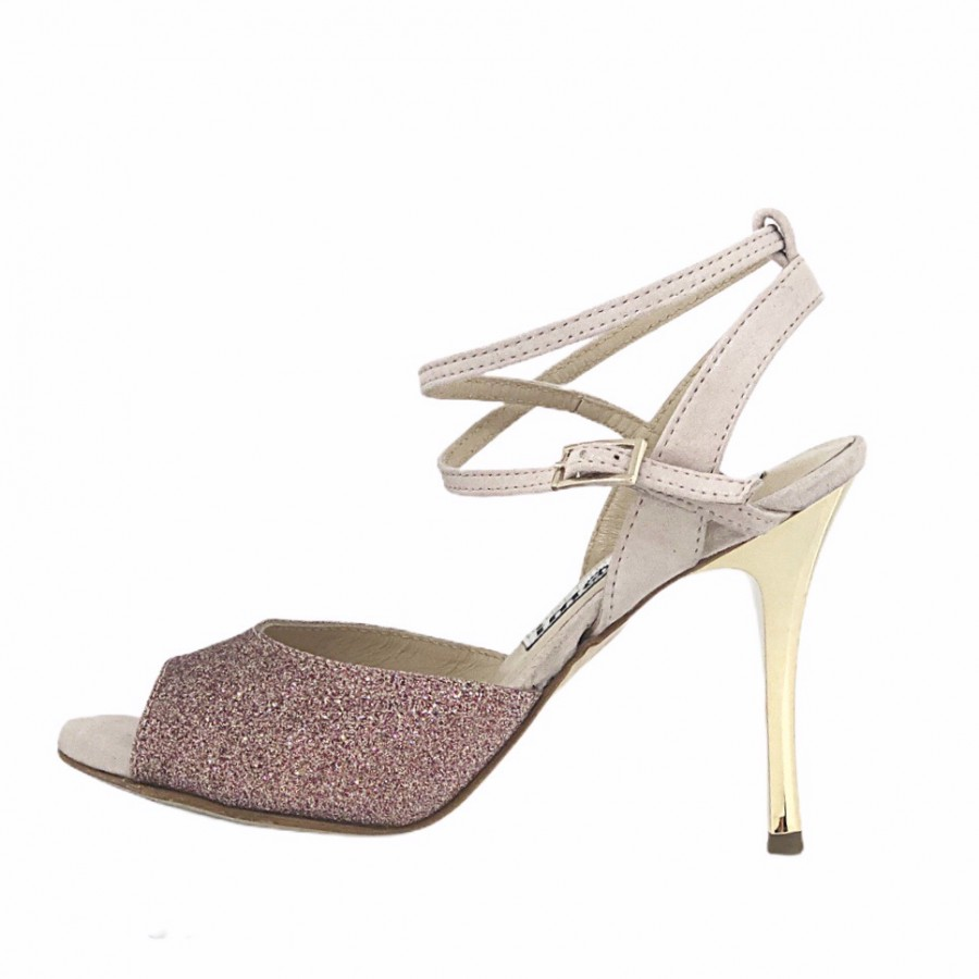 Rosa Double Strap in Pink Party Glitter