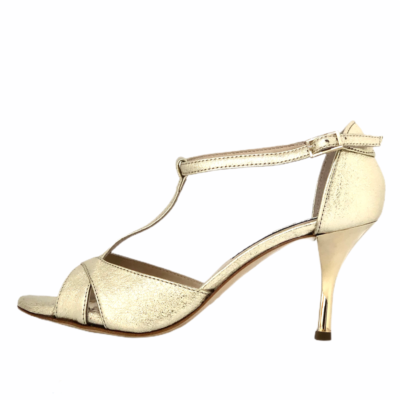 Mariposa all Crac Platinum Metallic Leather