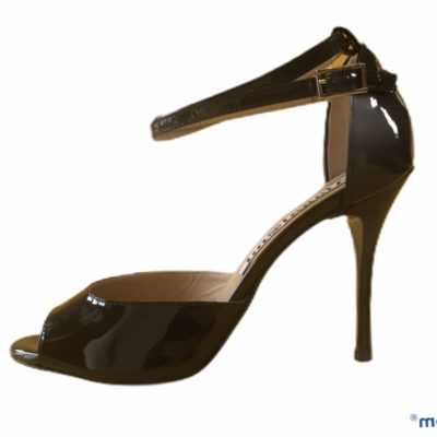 Lily Double Strap Black Patent Leather