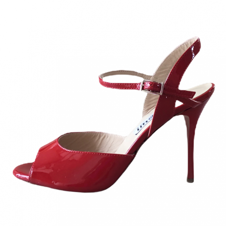 Rosa Single Strap Red Patent Leather