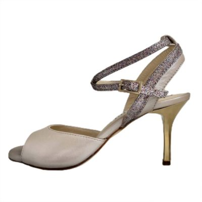Nina Double Strap Osterica and Rainbow Glitter