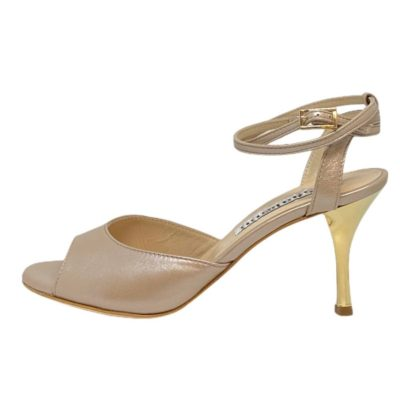 Iris Double Strap in Osterica Beige Leather