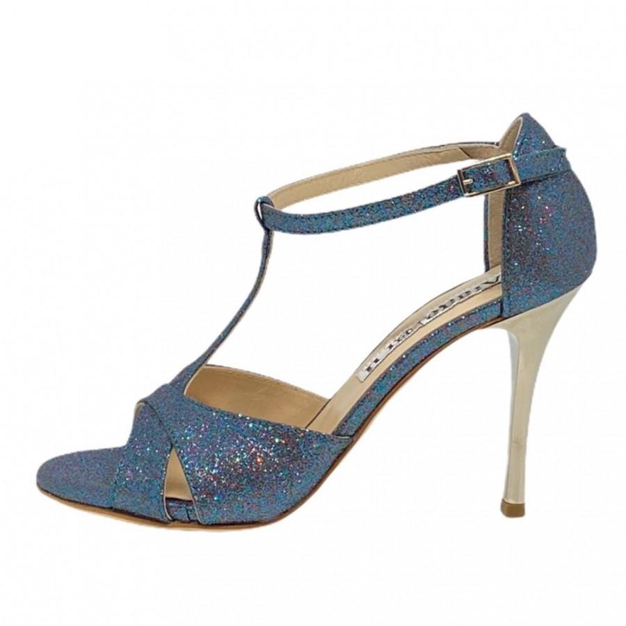 Mariposa Multi Blue Glitter