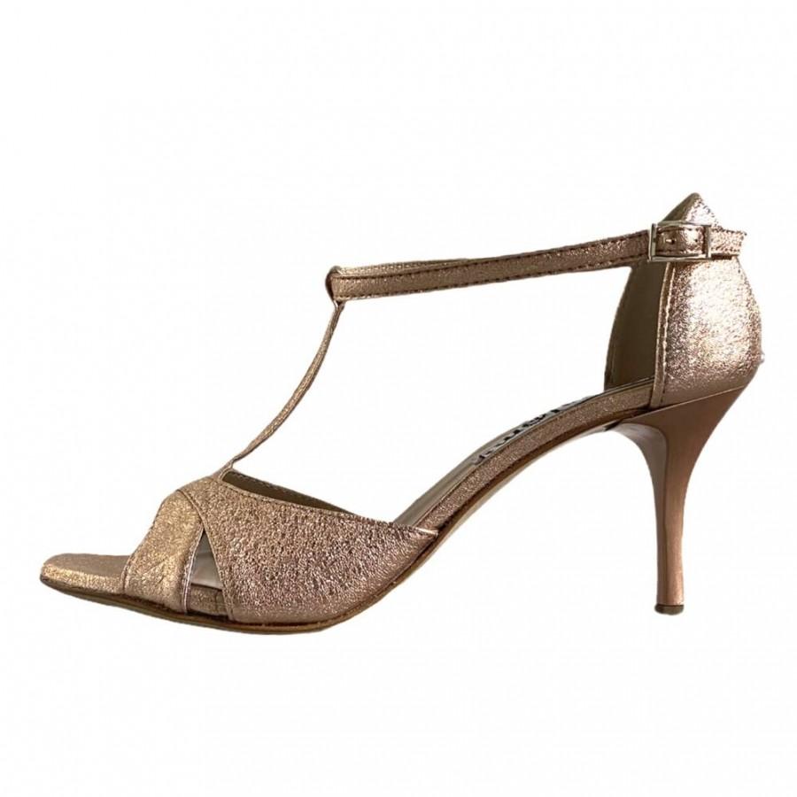 Mariposa Rose Gold Crac Leather