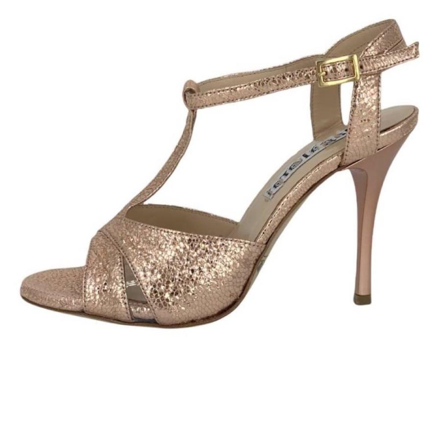 Maleva Rose Gold Allure Metallic Leather